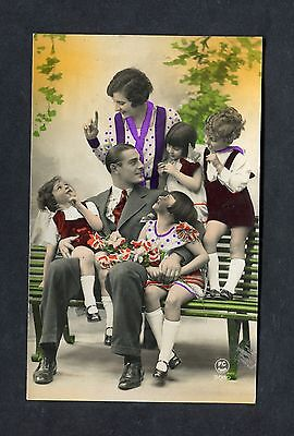 C1930's View of a French Family Group with 4 Children