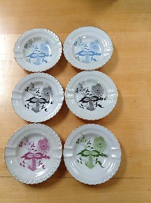 Set of six Porcelain Dishes, Ashtrays, Japan