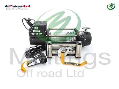Superwinch Tiger Shark 9500Lb 12V Winch With Roller Fairlead / Remote Off Road
