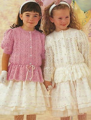 5e752363e0ccd GIRLS SWEATER WITH Lace Sleeves Knitting Pattern DK 20-30