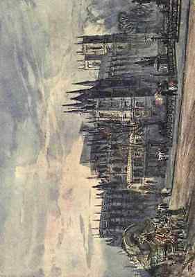 A4 Photo Fulleylove John 1845 1908 Westminster Abbey 1904 View from Whitehall Pr