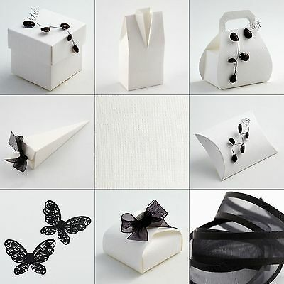 10 pack Antique White Trapunta Wedding Gift Favour Boxes