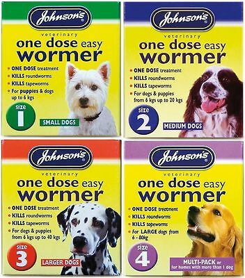 Johnsons One Dose Wormer - All Sizes Available