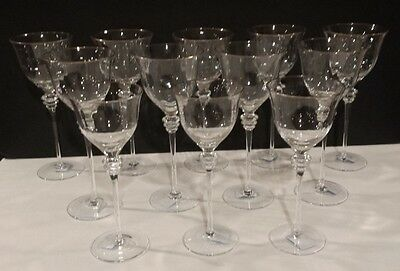 Set of 12 SOPHISTICATE Mikasa Crystal Glasses / Water / Wine Goblets
