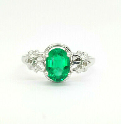 10k yellow gold emerald and dress ring