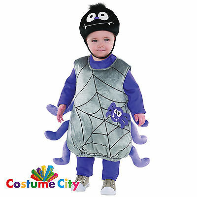 Babys Toddlers Itsy Bitsy Cute Spider Fancy Dress Halloween Party Costume