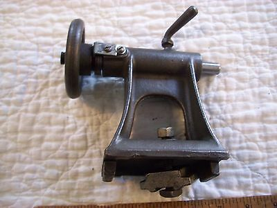 "Vintage Tailstock Assembly Montgomery Ward 8"" Powr-Kraft Wood Lathe Cup built-in"