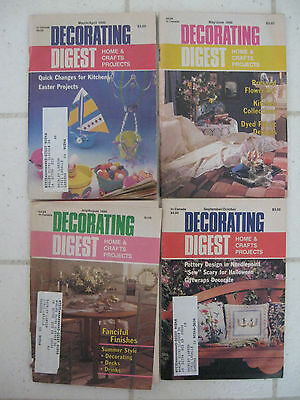 Lot 4 Vintage 1990 DECORATING DIGEST Home & Crafts Projects Magazines Patterns