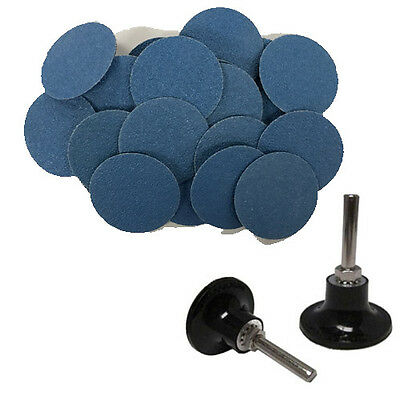 "100 - 3"" Roloc Zirconia Quick Change Sanding Disc 40 Grit and Mandrel"