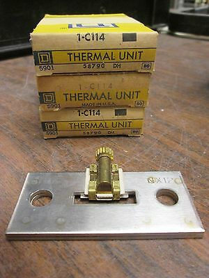 Square D Overload Relay Thermal Unit C114 Lot of 3 New Surplus