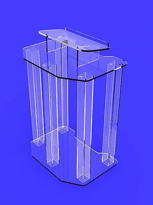 1803-4 Podium, Clear Ghost Acrylic wrap- around style Pulpit, Lectern 1803-4 - E