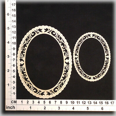 Chipboard Embellishments for Scrapbooking, Cardmaking - Ornate Frames 196091w