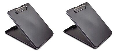"Saunders Slim Mate Storage Clipboard 1/2"" Capacity Holds 8 1/2w x 12 h Black"
