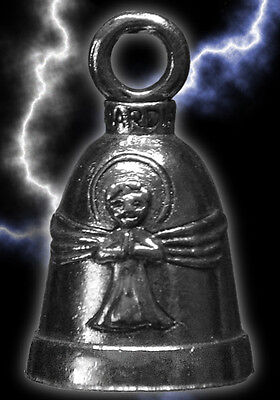 Pewter Angel Bell Gift Bag Legend Religious Motorcycle Auto Travel Accessory