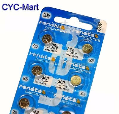 Renata 362 SR721SW Silver Oxide Watch Battery x 6 pcs, Swiss Made FREE POST
