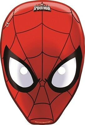 Ultimate Spiderman Card Party Face Masks | Favours 1-48pk