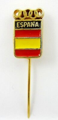 SPAIN NOC OLYMPIC COMMITTEE OLYMPIAD UNDATED OFFICIAL OLD PIN BADGE RARE