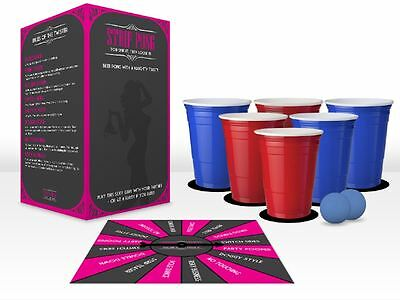 Beer Pong Strip Pong Portable Drinking Game Fun Party Hen Stag Novelty Naughty