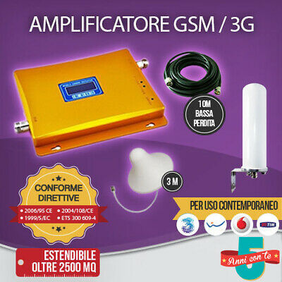 Kit Amplificatore Ripetitore Segnale Gsm Umts Antenna Tim Wind Vodafone Tre