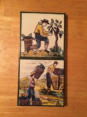 SAO SIMAO ARTE-AZULEJOS PORTUGAL TILES HAND PAINTED SIGNED AND DATED 1991