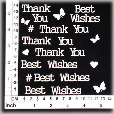 Chipboard Embellishments for Scrapbooking, Cardmaking - Assorted Words 216102w