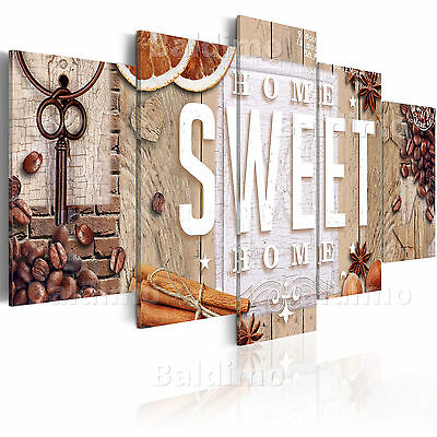 Large Canvas Wall Art Print + Image + Picture + Photo Sweet Home 020115-84