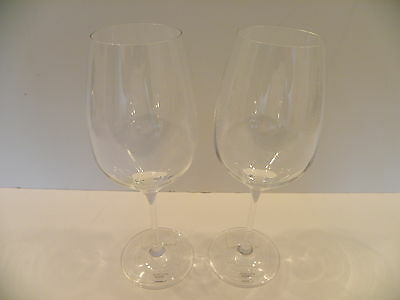 Lenox Crystal Marchesa Rose Red Wines Set of 2 Made in Germany