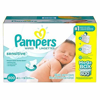New Pampers Sensitive Baby Wipes, 800 ct Wipes 20% Thicker Free Shipping