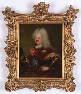 """Ernest Augustus, Duke of York and Albany"", high quality oil on copper, ca. 1720"