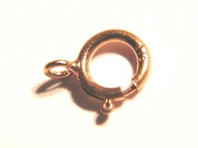 """9ct Rose Gold Bolt Ring Clasp """"Open"""" 4.5mm- Heavy-Spring Ring-Findings-Necklace"""