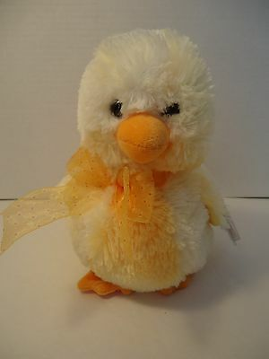 """7"""" Ty COOL CHICK Easter Plush PURSE MWMT Yellow Chick w/ yellow Bow Very Soft"""