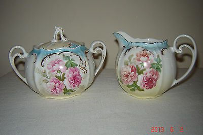 Antique RS Prussia creamer and sugar bowl