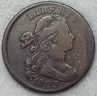 1803 Draped Bust LARGE Cent VF+ Detailing RARE S-251 Variety Authentic .01 Coin