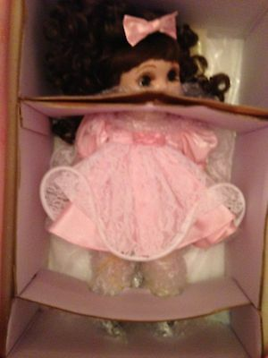 Marie Osmond Adora Belle doll--NIB! pink dress with coat & stand & certificate