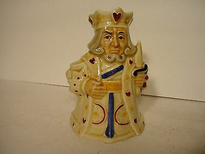 Attractive Vintage HJ H J Wood Pack Of Cards Series King Of Hearts Jug Pitcher