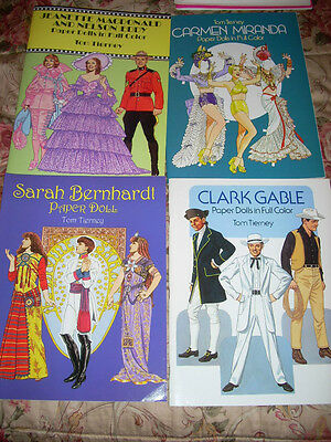 Paper Doll Books Vintage-look Reproduction Lot of 4 Actors Actresses of the Past