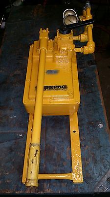 Used Enerpac P-464 Hand Pump with 4 Way Valve