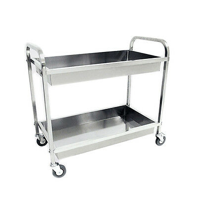 95 x 50 x 95CM Stainless Steel Kitchen Dining Food Catering Dish Cutlery Trolley