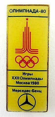 1980 MOSCOW OLYMPIC GAMES MERCEDES-BENZ SPONSOR OLYMPIC PIN BADGE