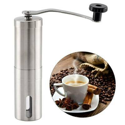 Stainless Steel Manual Coffee Bean Grinder Spice / Nuts Grinding Mill Hand Set