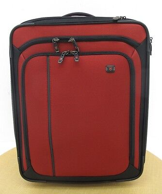 "NWD Victorinox Swiss Army Werks 4.0 20"" Extra Capacity Wheeled Carry On Red"