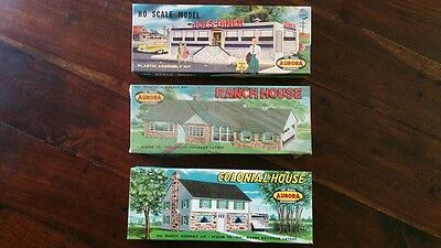 HO MODEL AURORA LOT 3pc COLONIAL HOUSE RANCH HOUSE JOES DINER NOS UNASSEMBLED A1