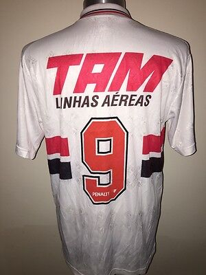 Penalty São Paulo 1993 Home Football Shirt Soccer Jersey No.9 Size L Trikot