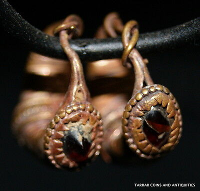 Ancient Roman-Byzantine Solid Gold Pair Earrings! Super Nice Pair!