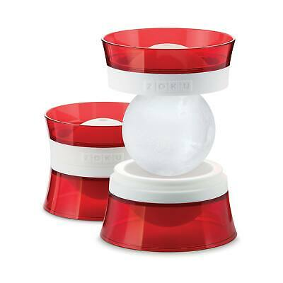 Zoku Ice Balls set of 2 Molds, Red & White ZK118