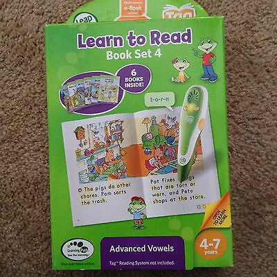Leapfrog TAG Learn to Read Book Set 4 - Includes 6 Books- Advanced Vowels NEW