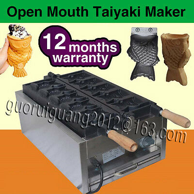 New type waffle machine Japanese Open Mouth Electric Taiyaki Machine,110V/220V