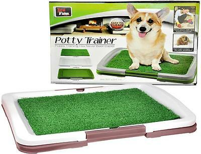 New Pet Dog Lawn Toilet Mat Indoor Training Grass Potty Pad Portable Loo Tray