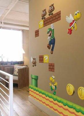 Medium Size Super Mario Removable Wall Stickers