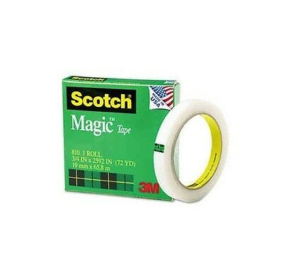 "Scotch Magic Tape 3"" Core 3/4 x 2592"" Invisible for Offices and Schools - New"
